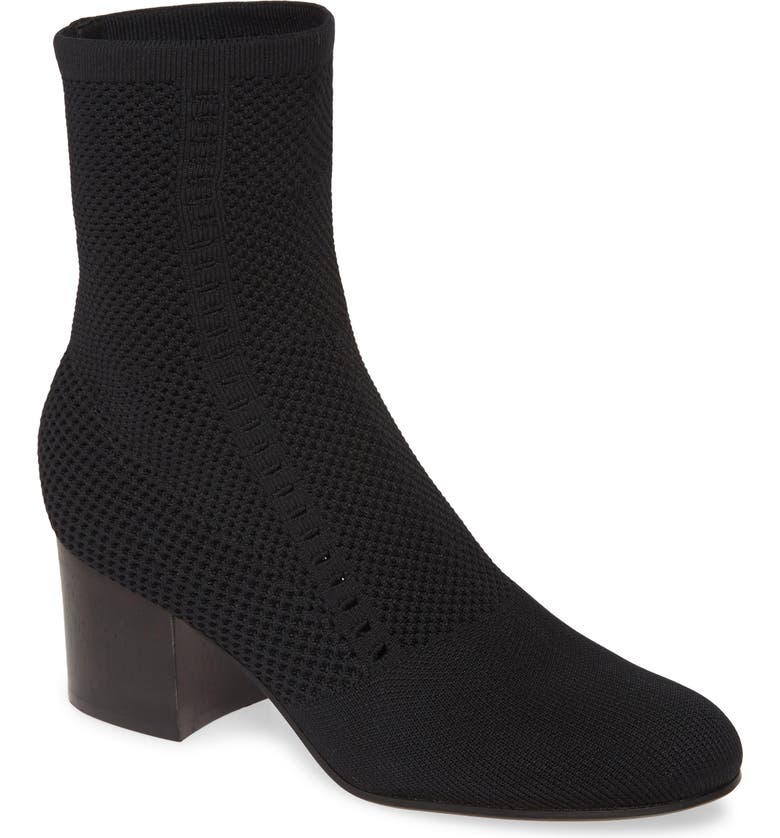 EILEEN FISHER Choice Knit Boot, Main, color, BLACK FABRIC