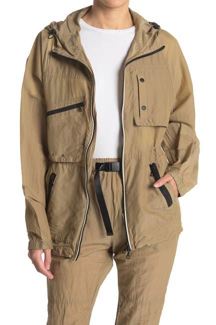 Image of John Elliott Silk Hooded Zip Jacket