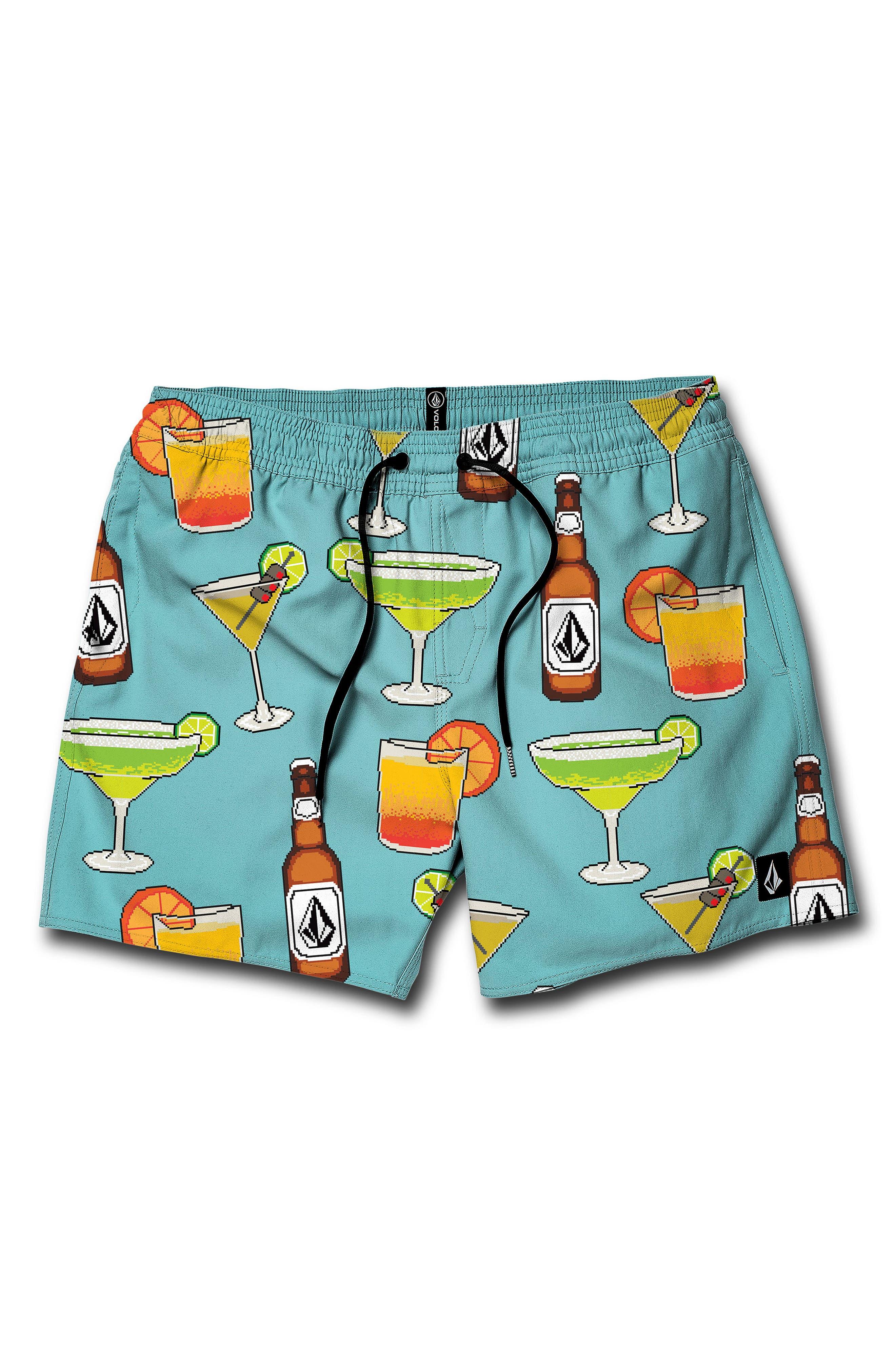 8 Bit Swim Trunks, Main, color, TUR