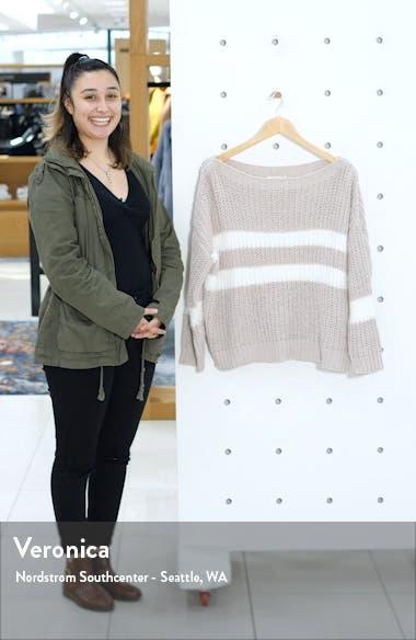 Eyelash Stripe Chenille Sweater, sales video thumbnail