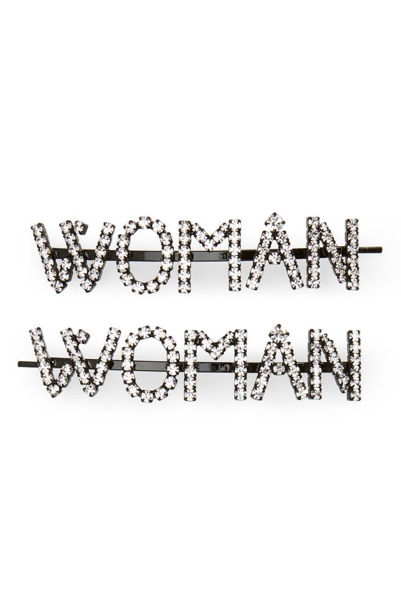 ASHLEY WILLIAMS Woman Set of 2 Crystal Hair Pins, Main, color, 960