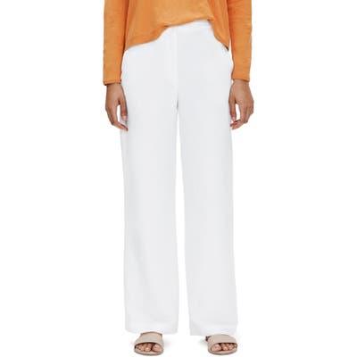 Petite Eileen Fisher Straight Leg Pants, White