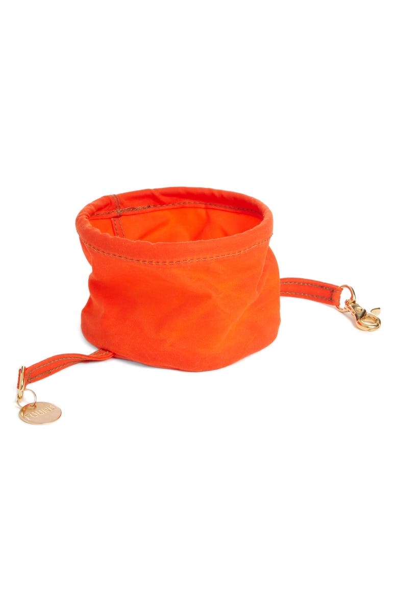 FOUND MY ANIMAL Collapsible Cat/Dog Bowl, Main, color, ORANGE