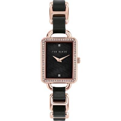 Ted Baker London Primrose Leather Link Bracelet Watch, 2m mm