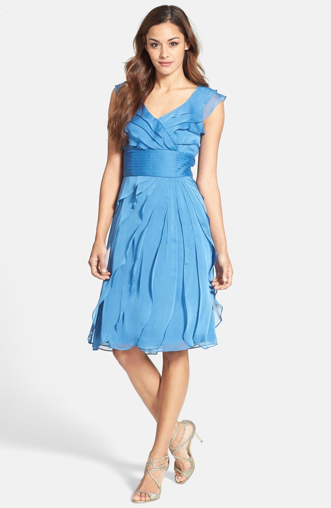 ,                             Tiered Chiffon Dress,                             Main thumbnail 12, color,                             402