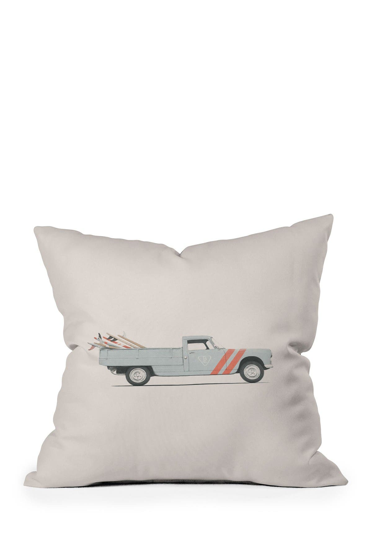 Image of Deny Designs Florent Bodart Surfboard Pick Up Van Square Throw Pillow