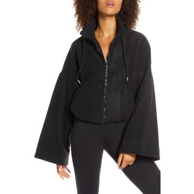Free People Fp Movement Climb High Fleece Jacket, Black