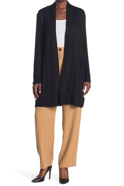 Image of By Design Princeton Open Front Pocket Long Cardigan