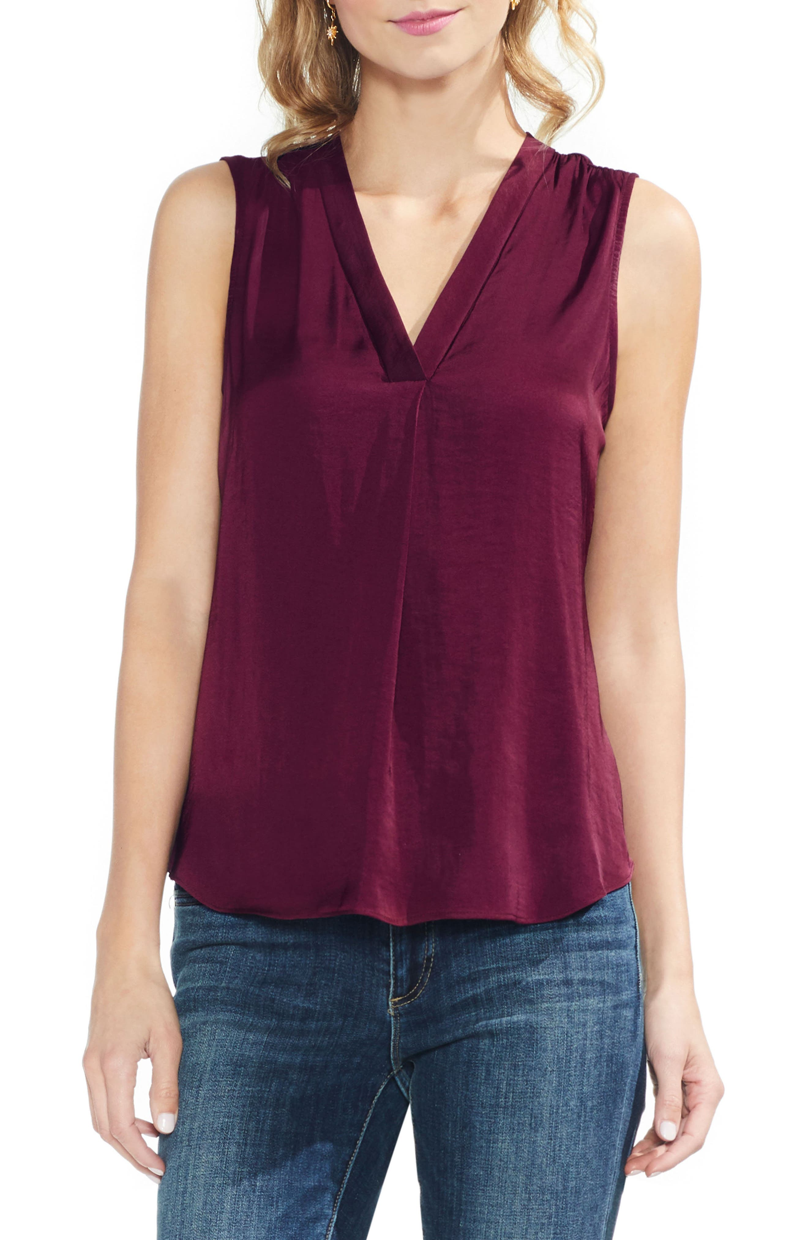 ,                             Rumpled Satin Blouse,                             Main thumbnail 224, color,                             648