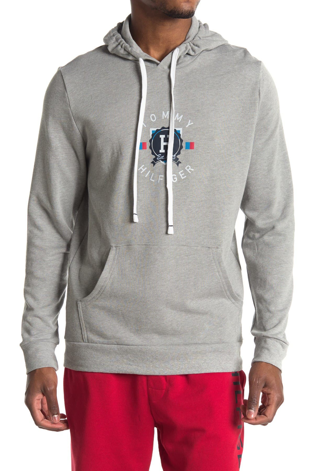 Image of Tommy Hilfiger Logo Pullover French Terry Lounge Hoodie