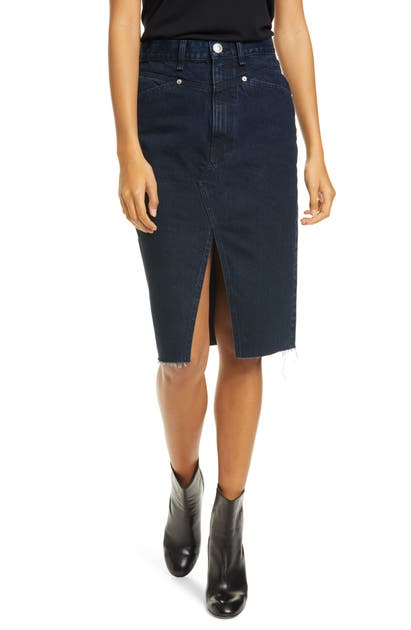 Rag & Bone Super High-waist Denim Pencil Skirt In Outer Banks