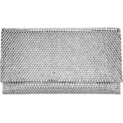Nina Crystal Beaded Clutch - Grey
