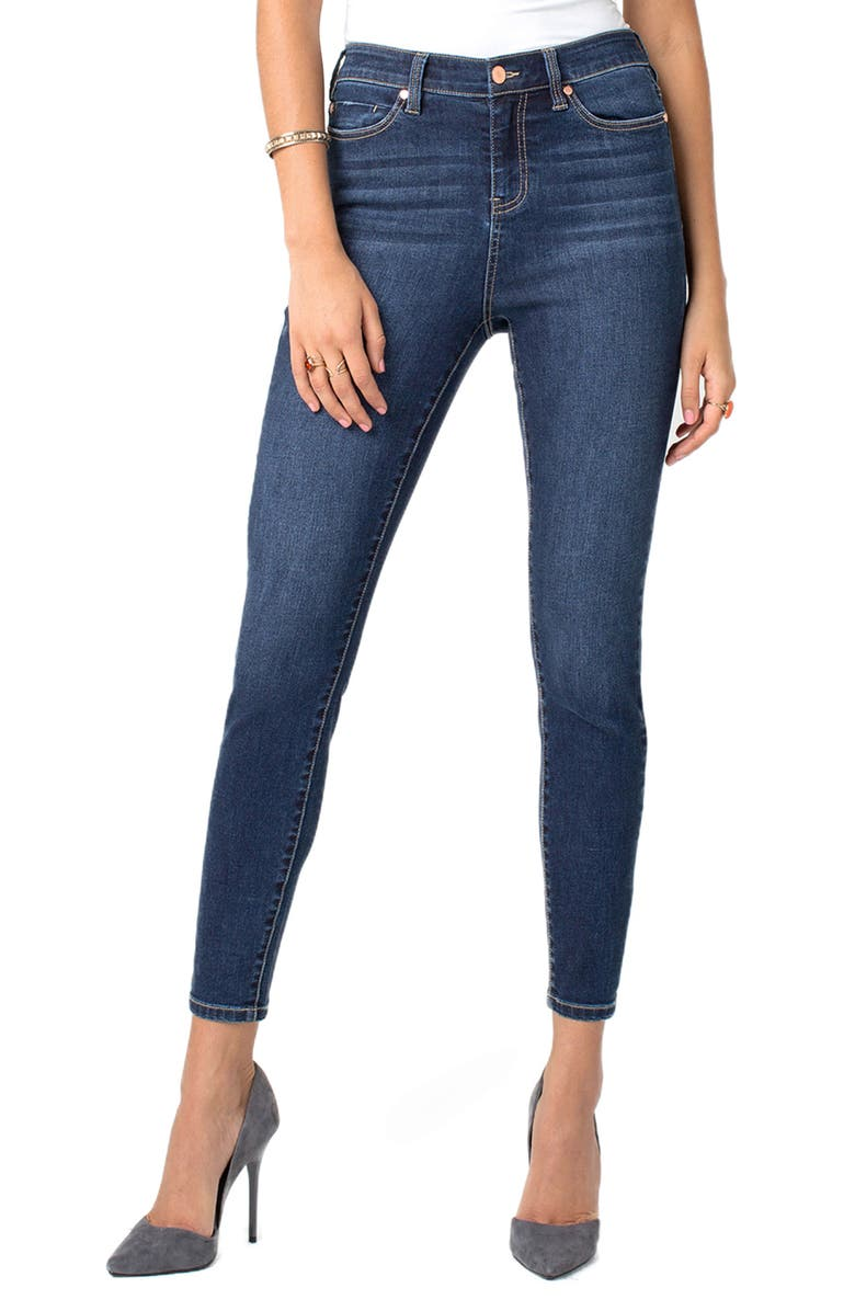 LIVERPOOL Bridget High Waist Ankle Skinny Jeans, Main, color, WILTSHIRE