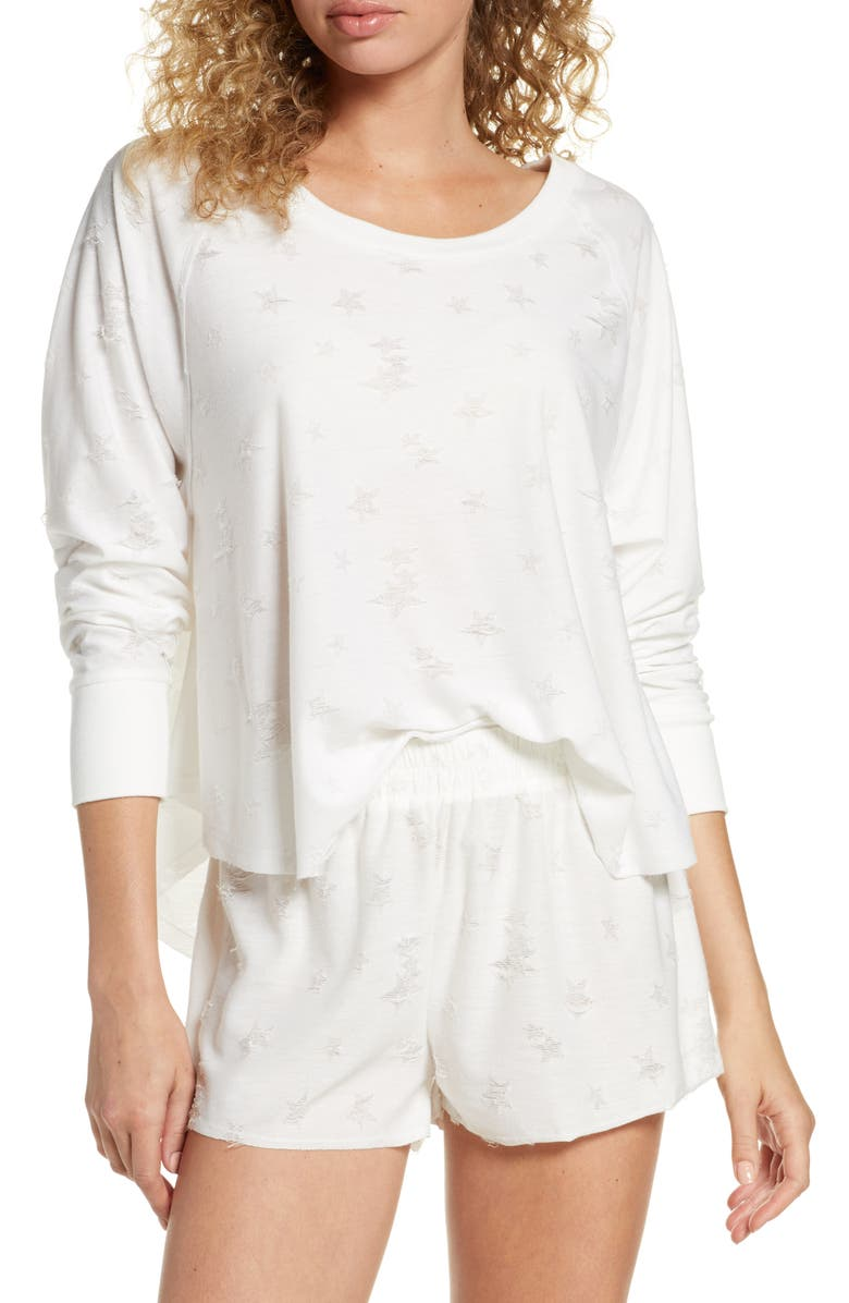 HONEYDEW INTIMATES Starry Eyed Lounge Tee, Main, color, WHITE
