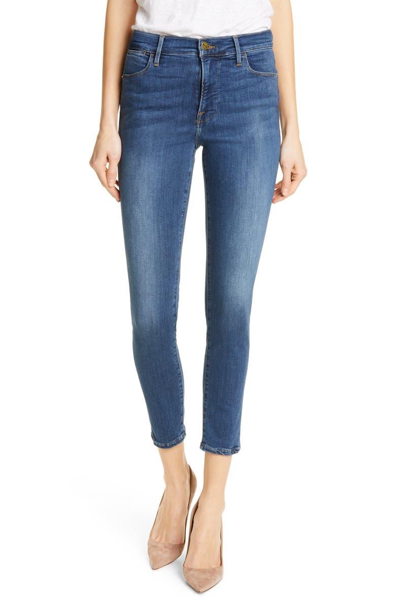 FRAME Le High Crop Skinny Jeans, Main, color, SULHAM