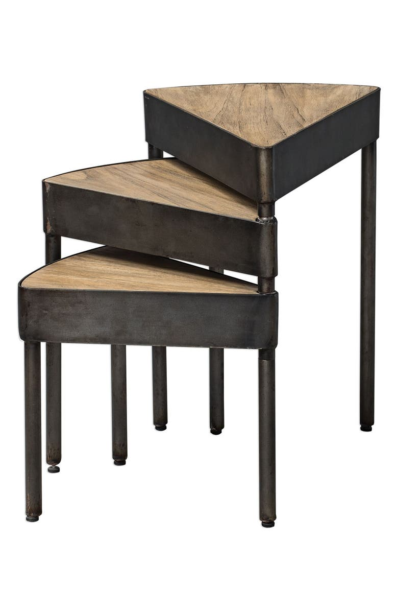 UTTERMOST Akito Nesting Tables, Main, color, BLACK/ WOODTONE