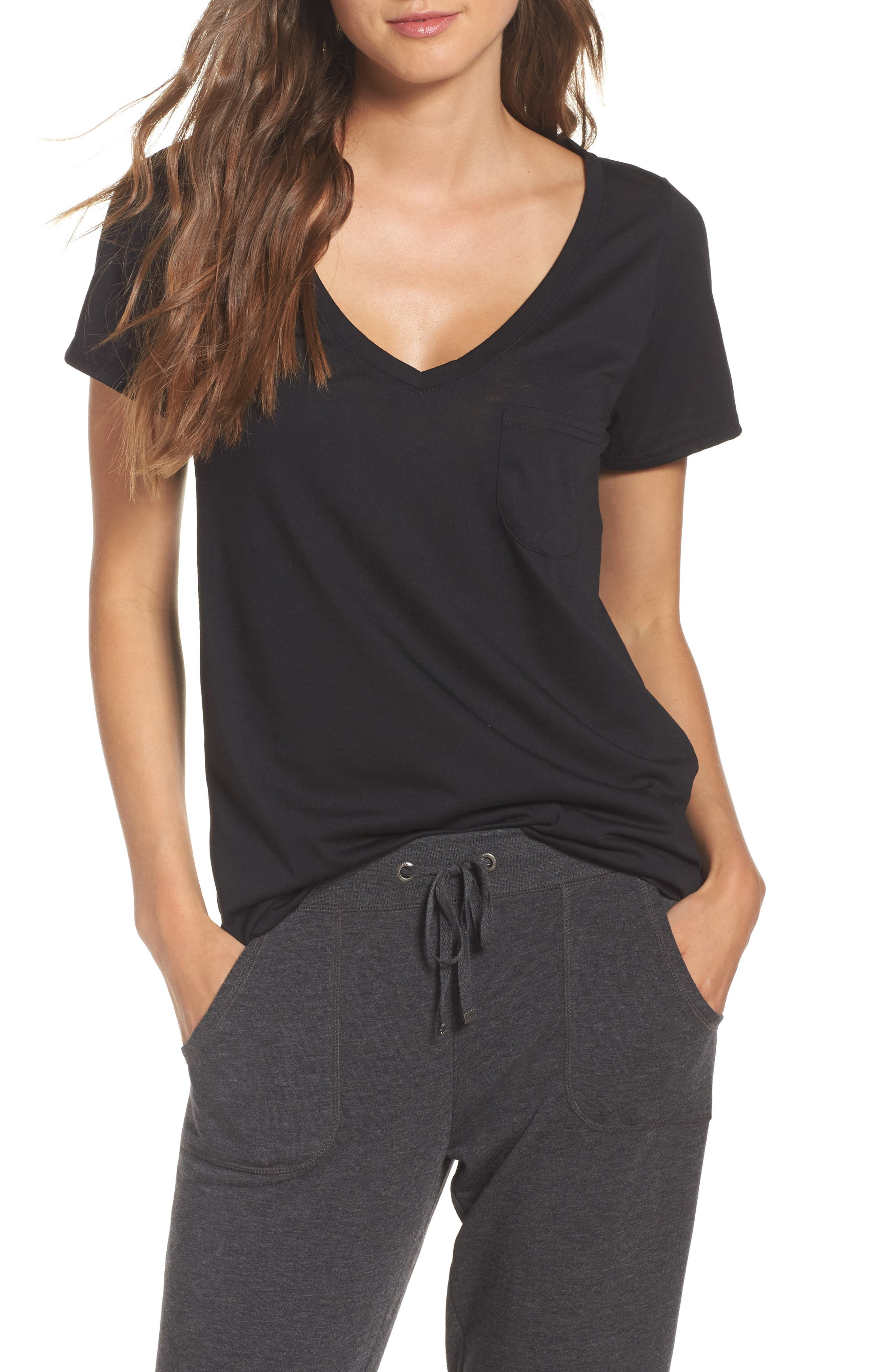'Gotta Have It' V-Neck Tee, Main, color, 001