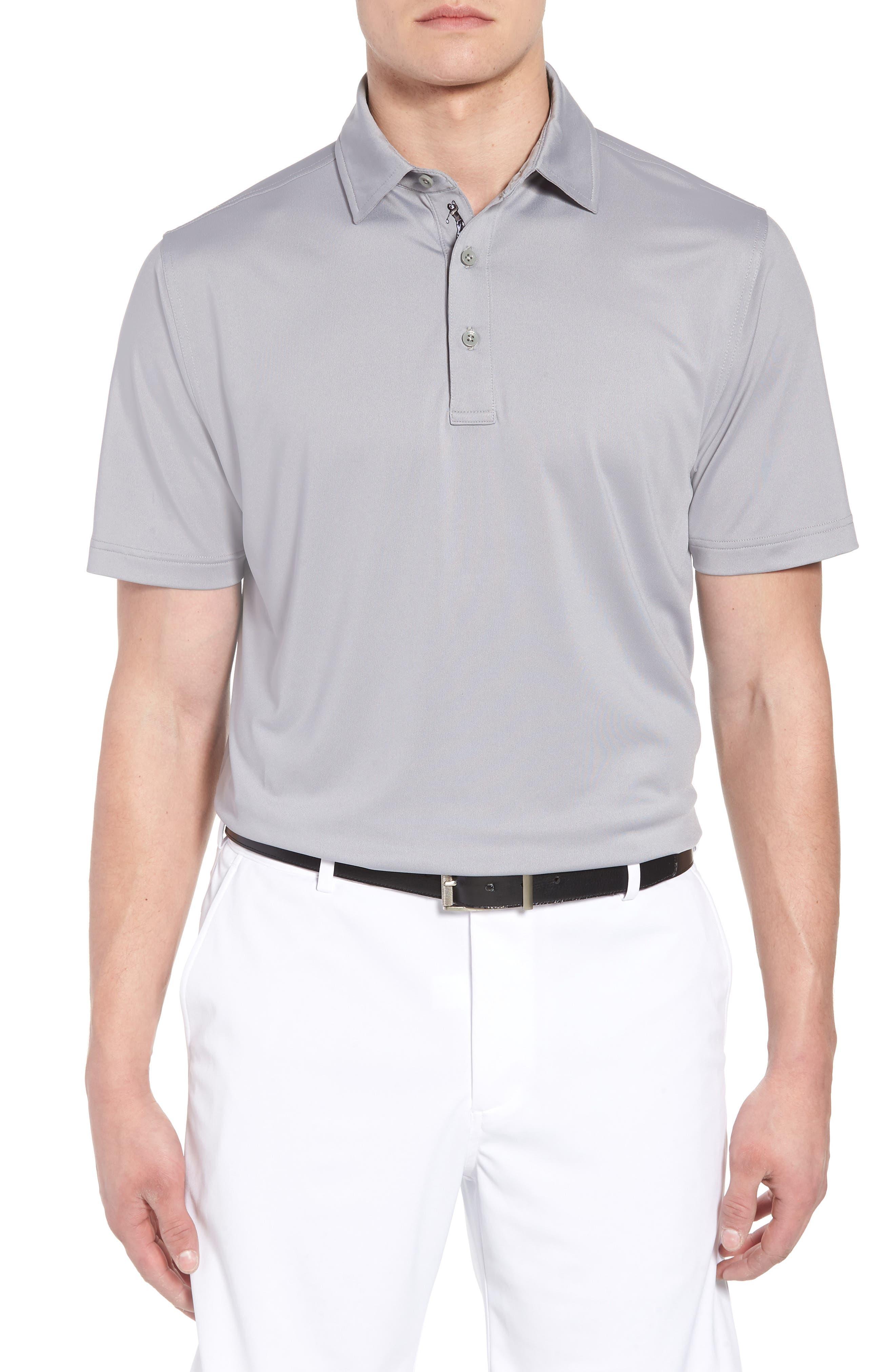 XH20 Regular Fit Stretch Golf Polo, Main, color, GRAPHITE