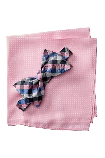 Image of Tommy Hilfiger Silk Gingham & Dot To-Be-Tied Set