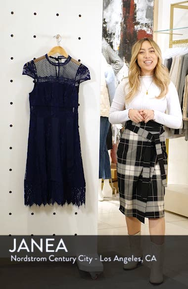 Bravo Zulu Lace Fit & Flare Cocktail Dress, sales video thumbnail