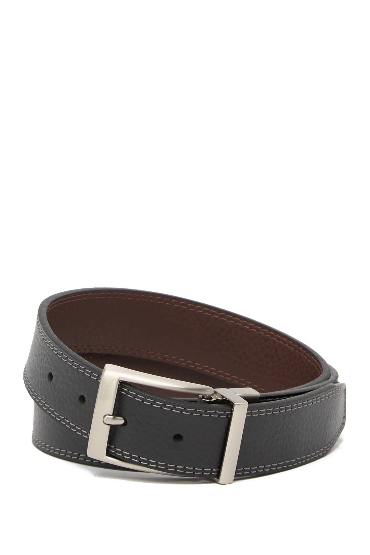 Image of Nike Reversible Contrast Double Stitch Leather Belt
