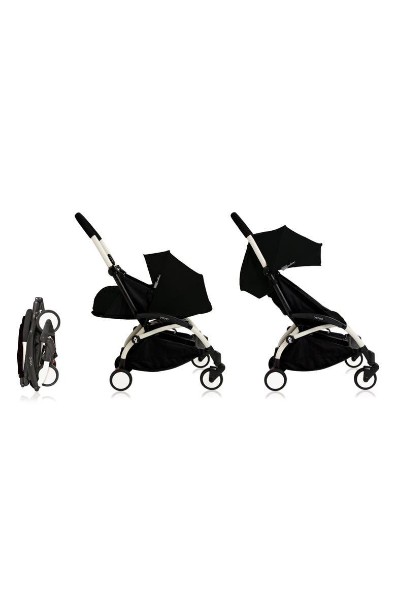 BABYZEN<SUP>™</SUP> BABYZEN YOYO+ Complete Stroller with Newborn Nest & Seat Color Pack Fabric Sets, Main, color, BLACK