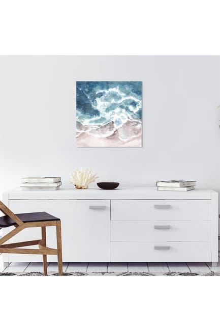 Image of Wynwood Studio Seaside Waves Blue Wall Art