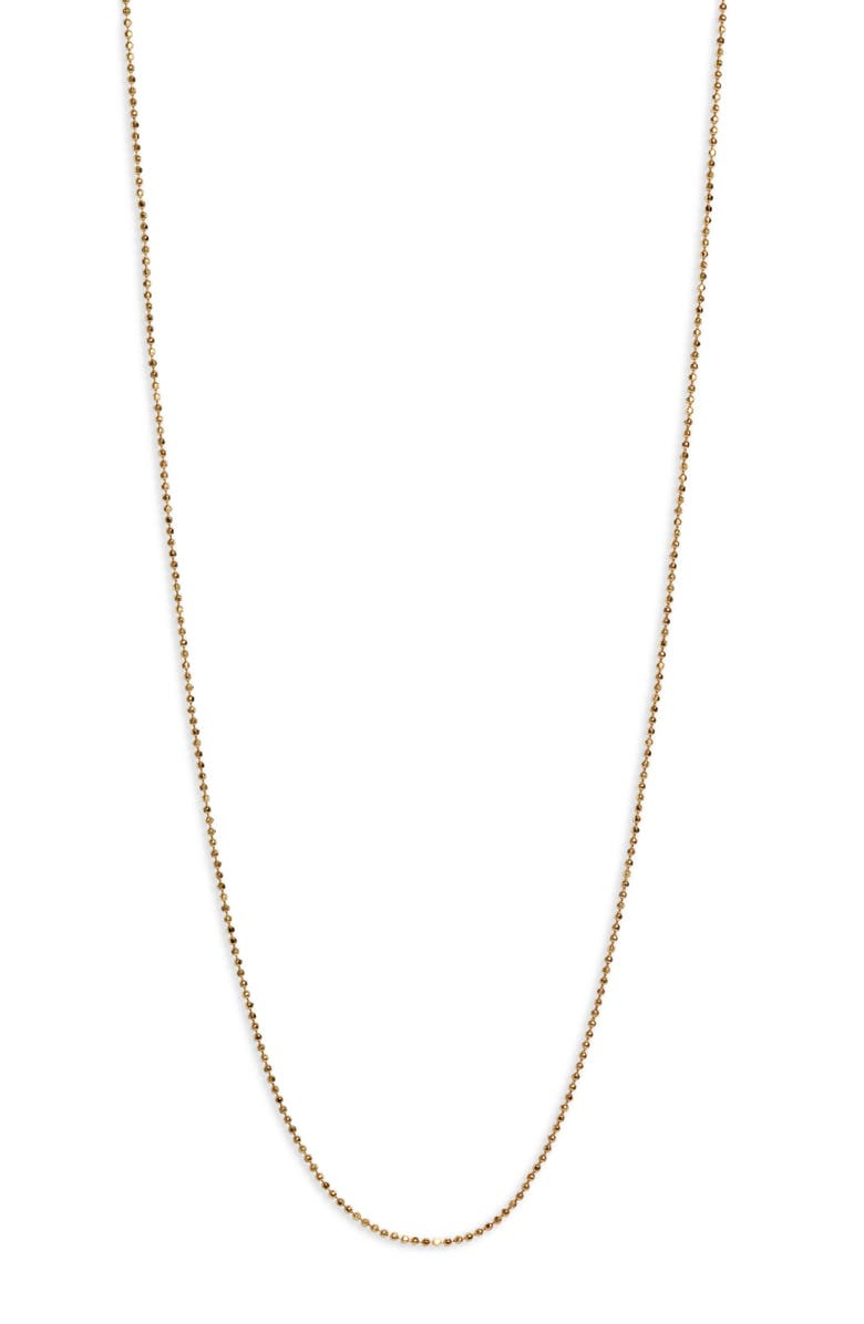 MELINDA MARIA Icons 20-Inch Ball Chain Necklace, Main, color, GOLD