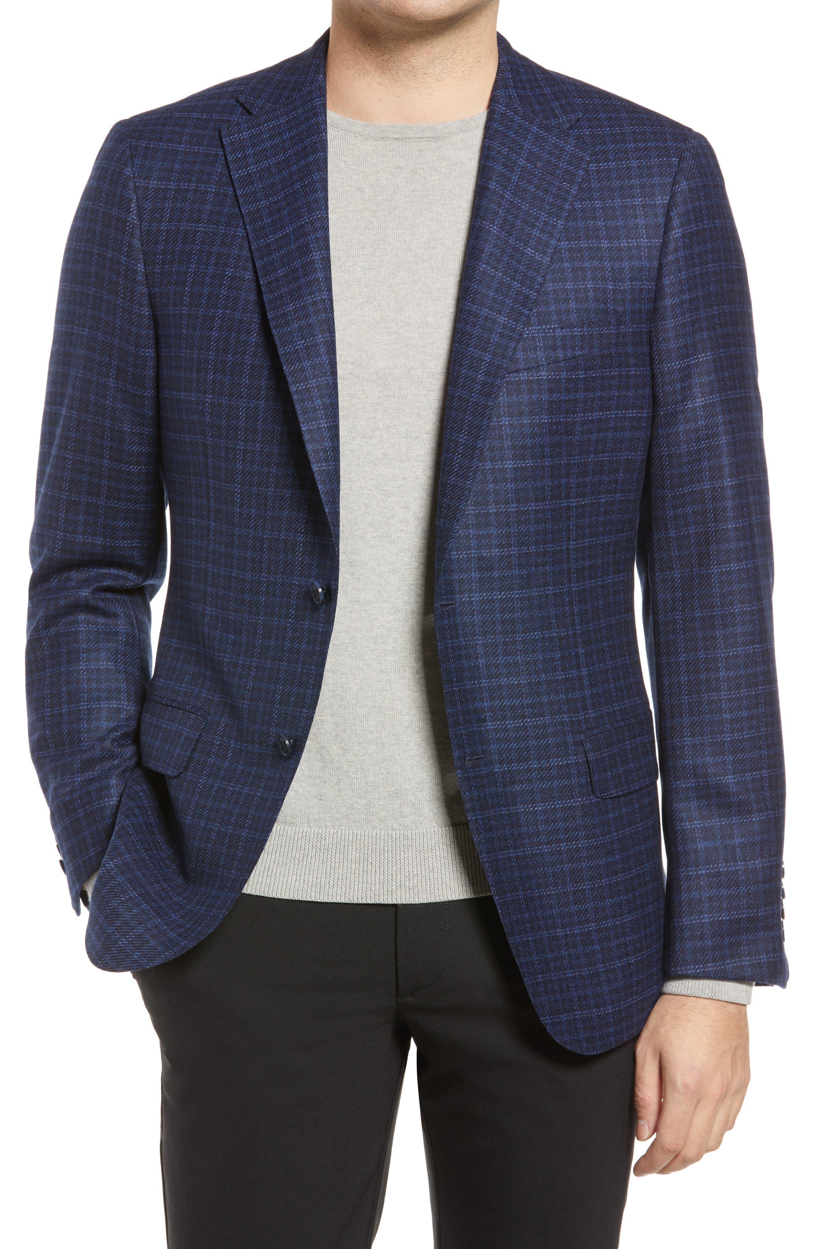 Check Wool Blend Jacket