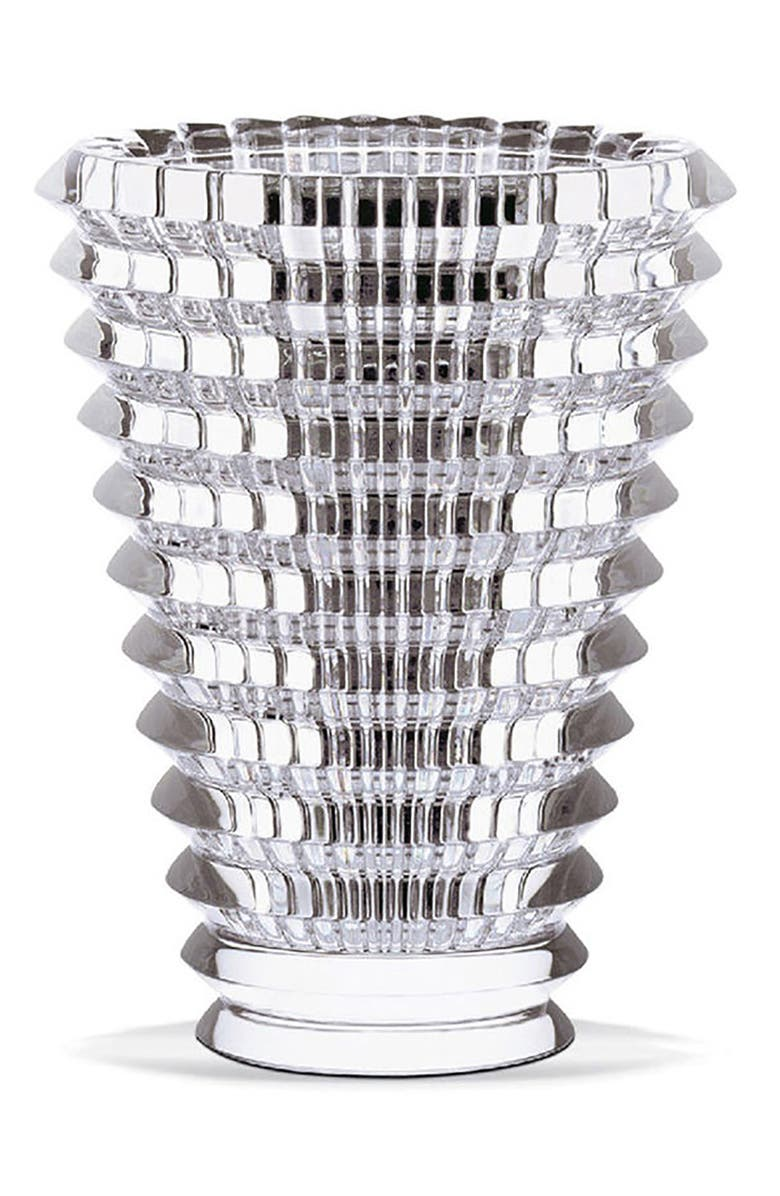 BACCARAT Small Round Eye Lead Crystal Vase, Main, color, CLEAR