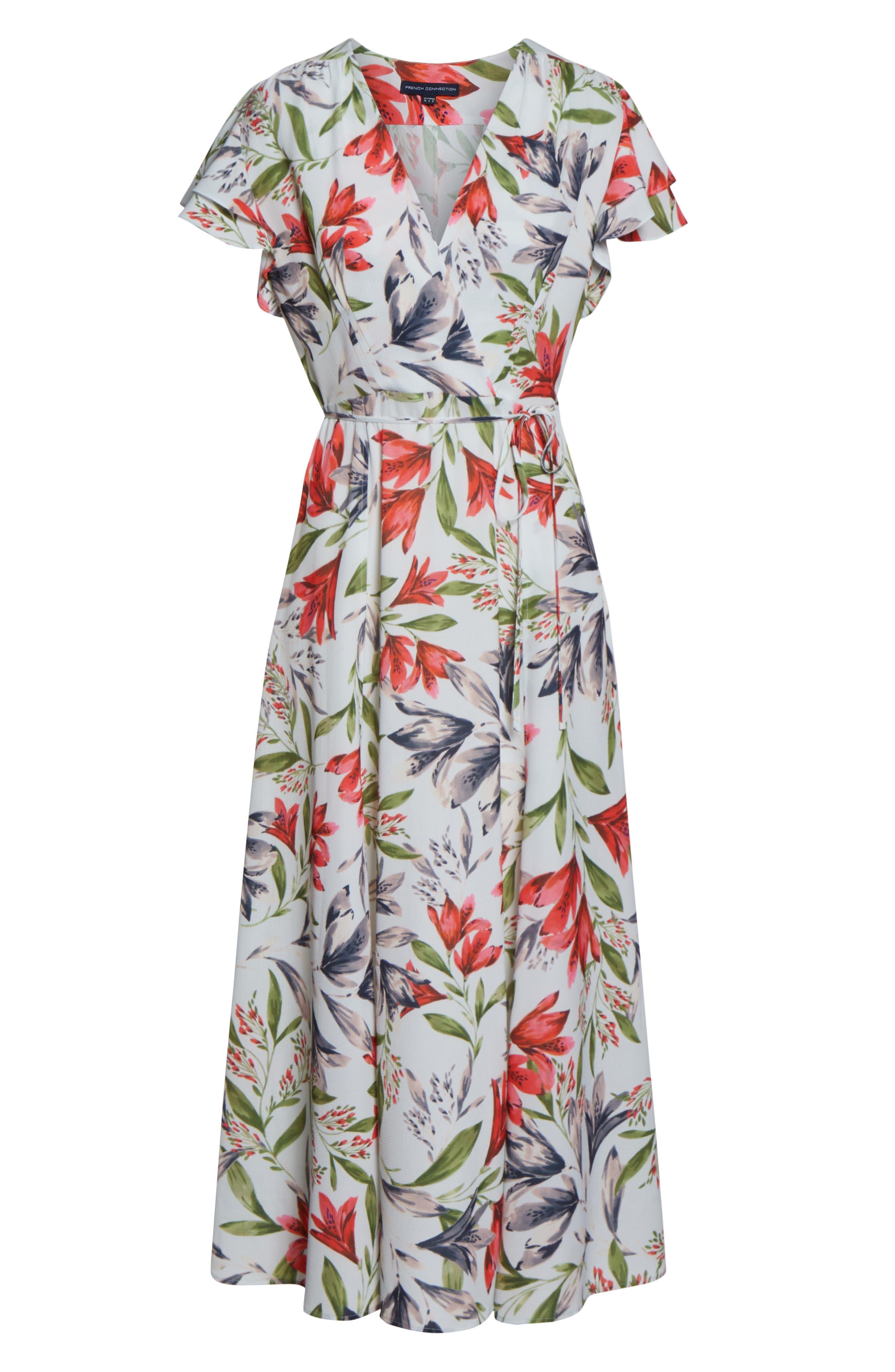 ,                             Cadencia Cari Floral Maxi Dress,                             Alternate thumbnail 7, color,                             LIGHT DREAM BLUE MULTI