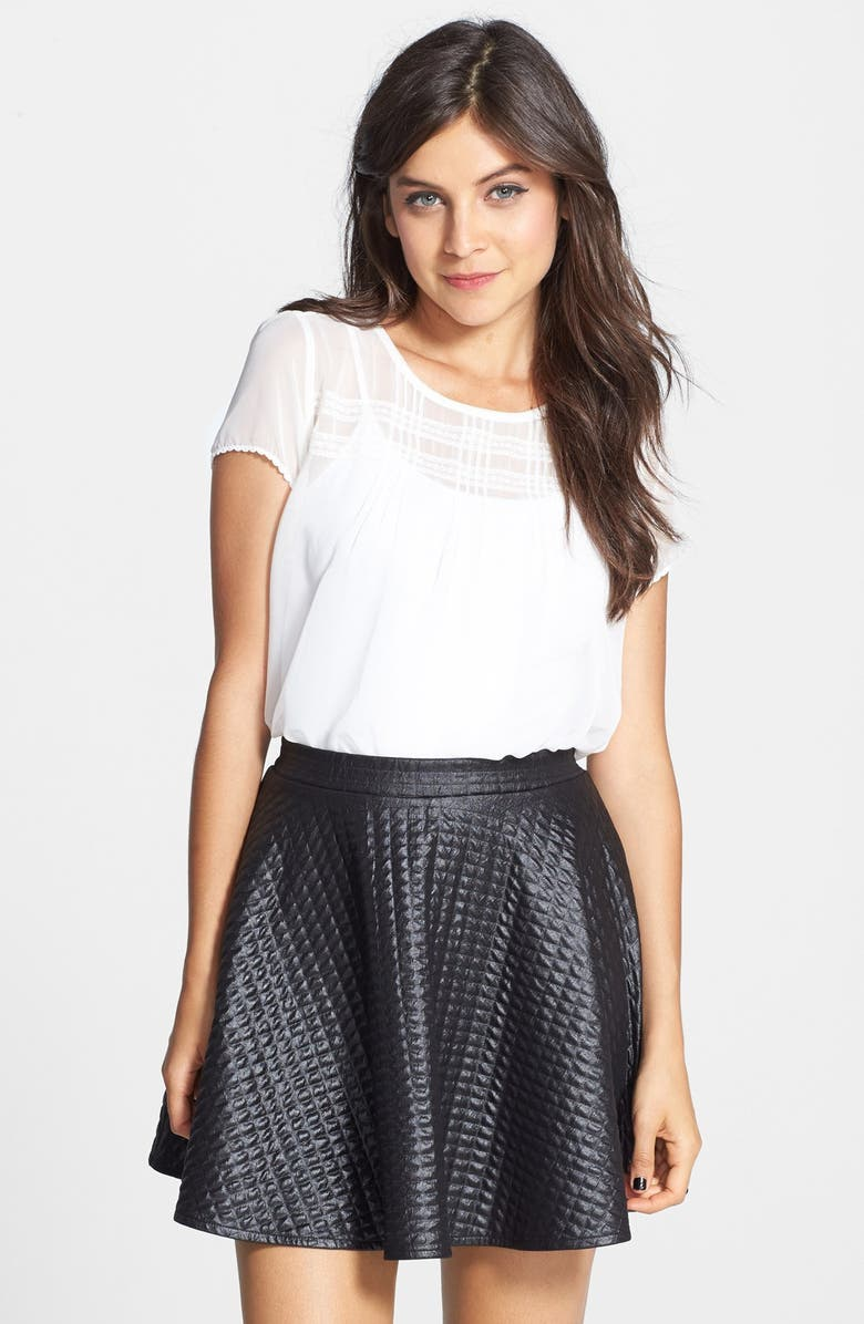 H.I.P. Quilted Skater Skirt, Main, color, 001