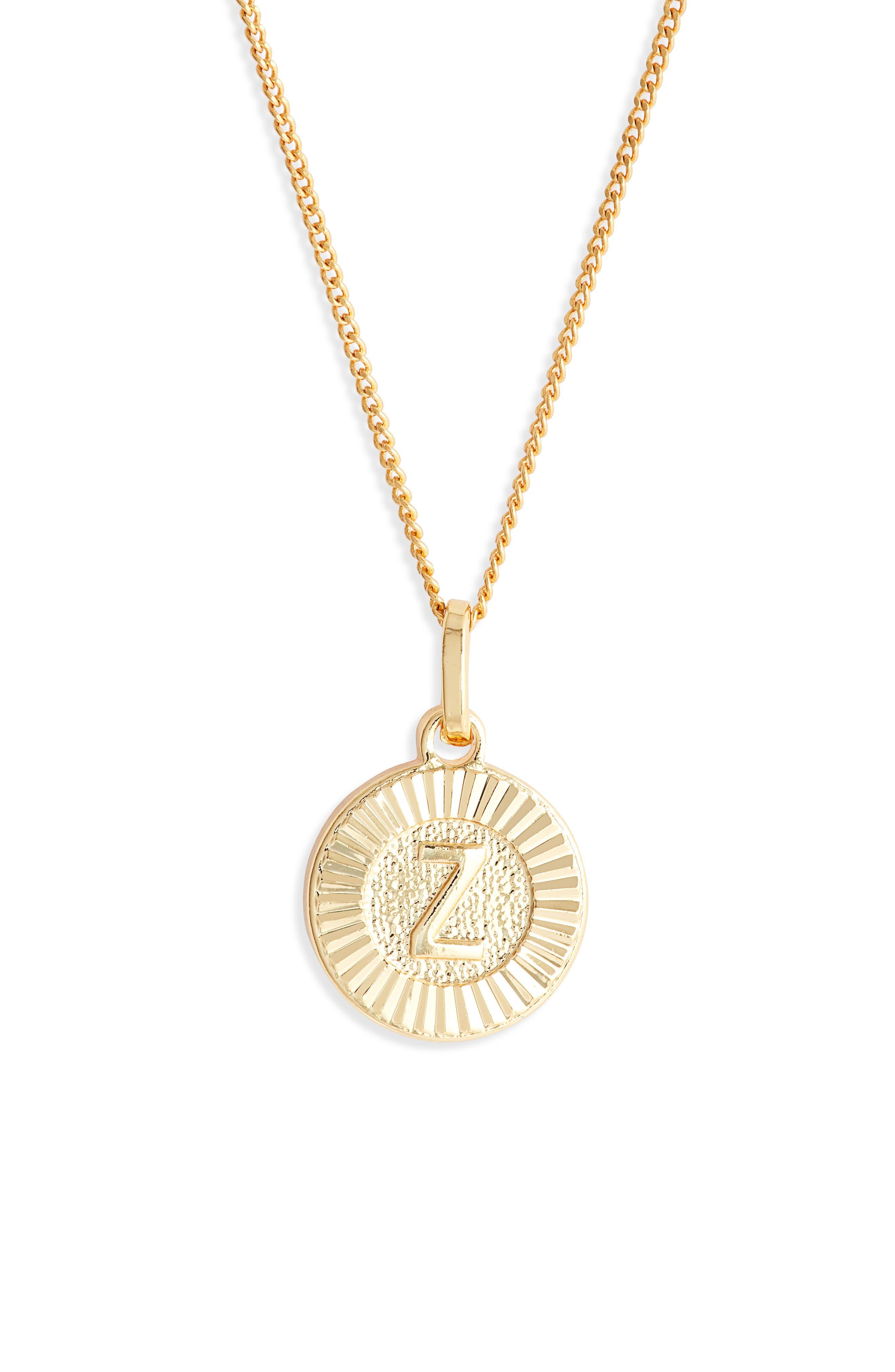 Initial Medallion Pendant Necklace