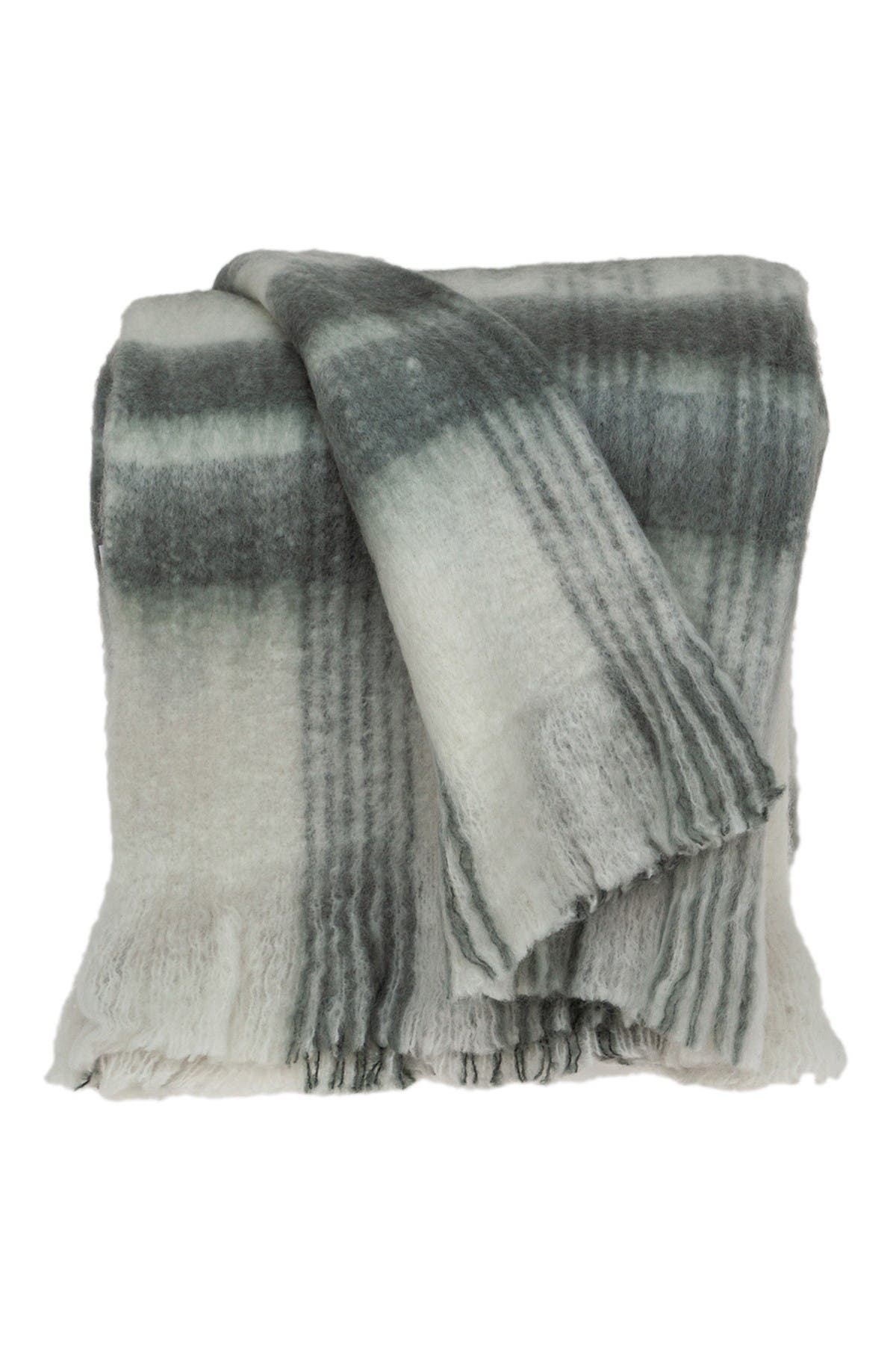 "Image of Parkland Collection Stella Transitional White 52"" x 67"" Woven Handloom Throw Blanket"