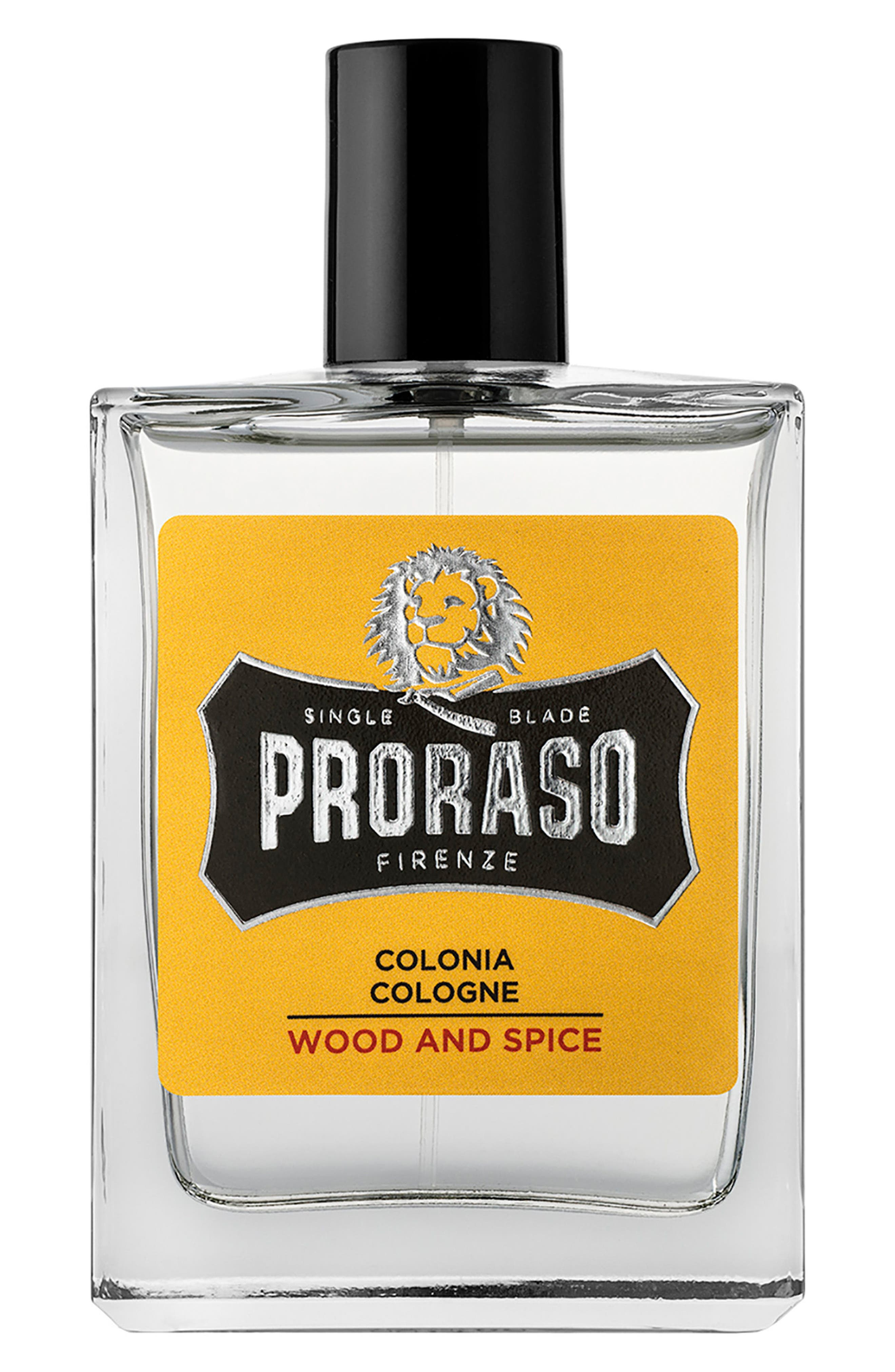 What it is: A cologne that provides the perfect finishing touch to your grooming ritual. Fragrance story: Proraso\\\'s classic and masculine Wood and Spice fragrance has bold and velvety notes that go hand in hand with delicate violet leaves and spiced hints of cumin and saffron. Sophisticated cedarwood and guaiac wood blend with soft amber notes and a mild hint of vanilla. It is an intense and rewarding aromatic sensation that leaves you with the