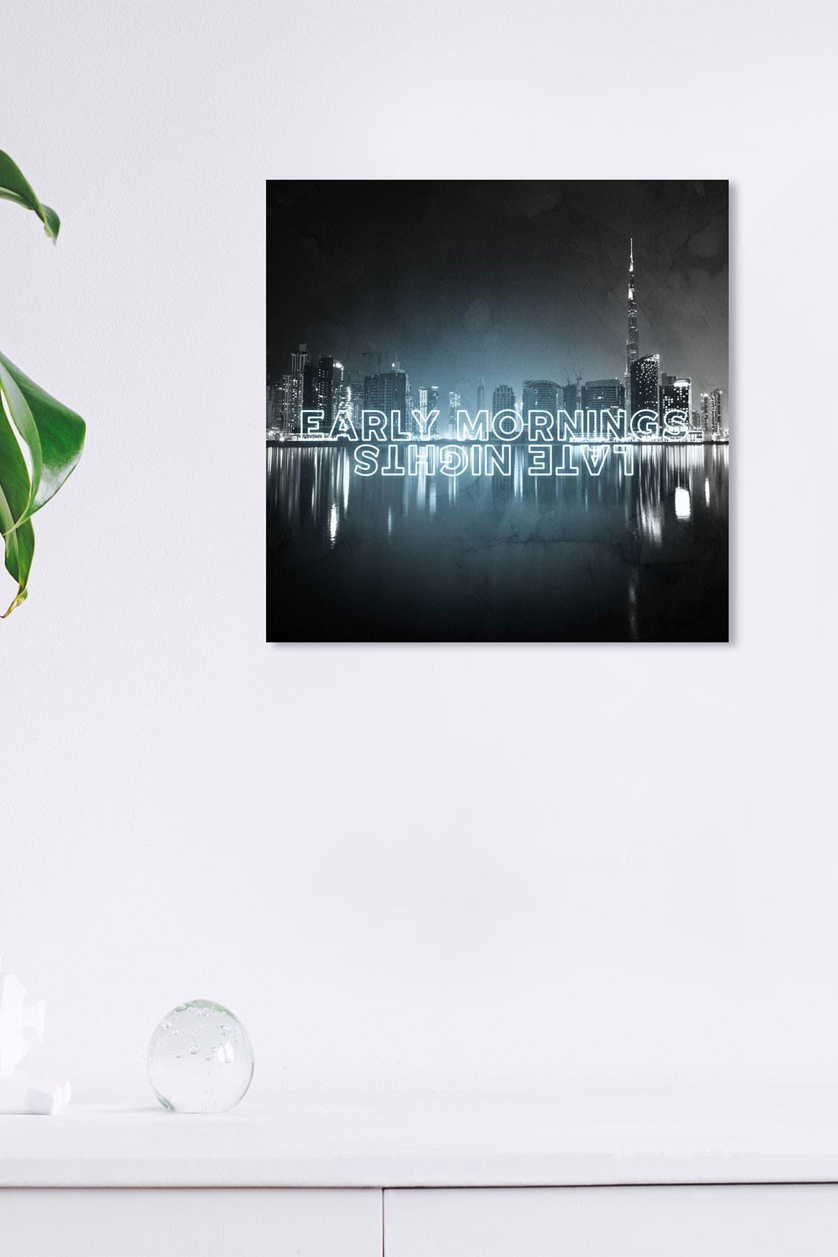 Image of Wynwood Studio Early Morning Late Nights Black Wall Art