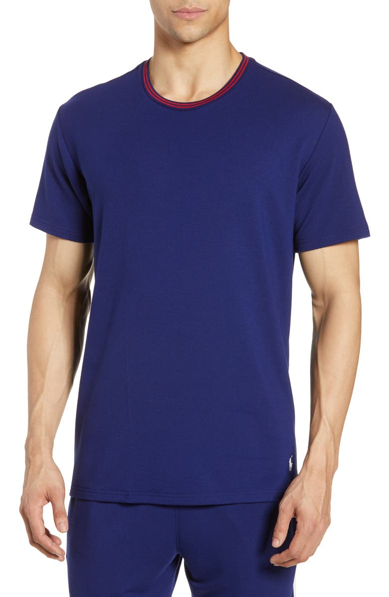 POLO RALPH LAUREN Terry Cloth Crewneck T-Shirt, Main, color, FALL ROYAL