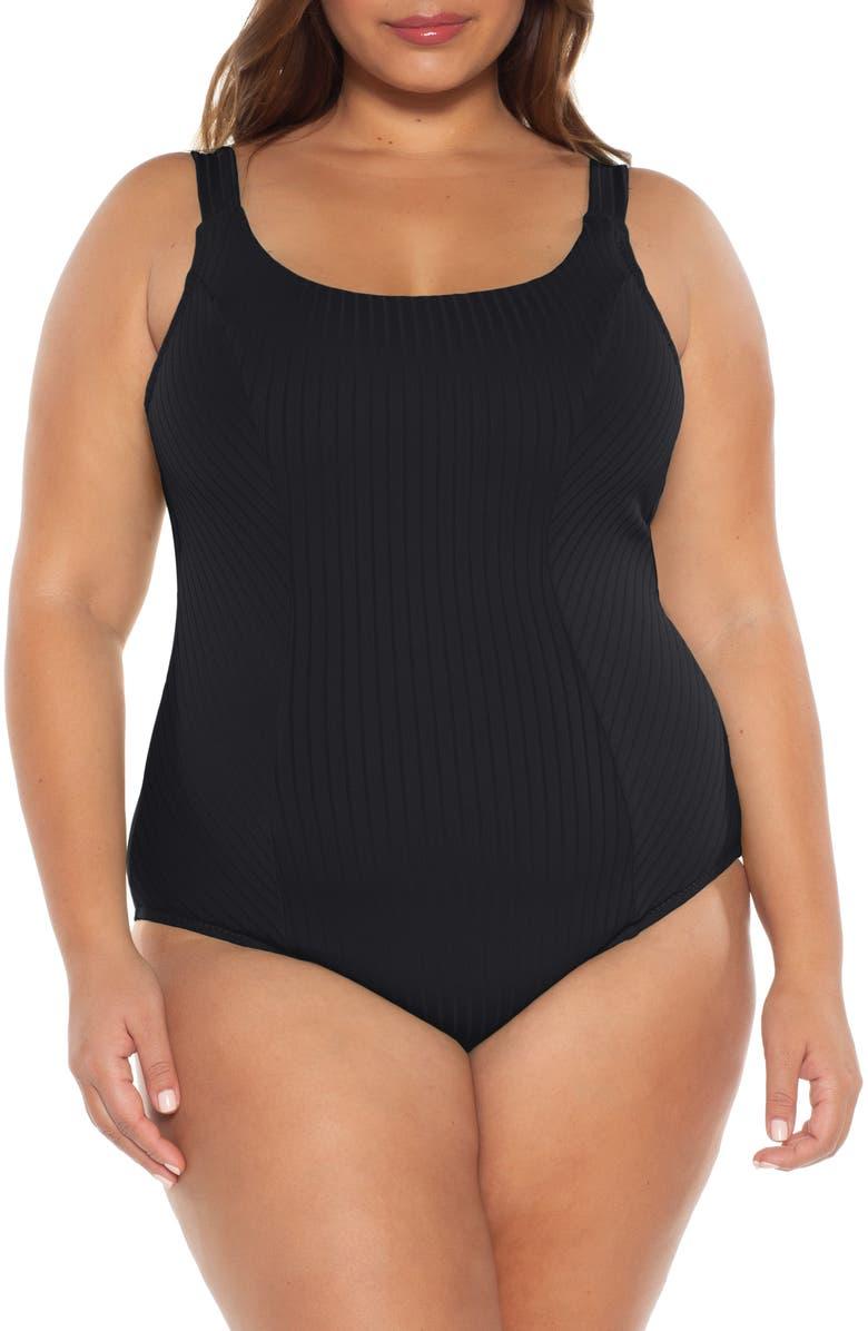 BECCA ETC. Loreto One-Piece Swimsuit, Main, color, 001