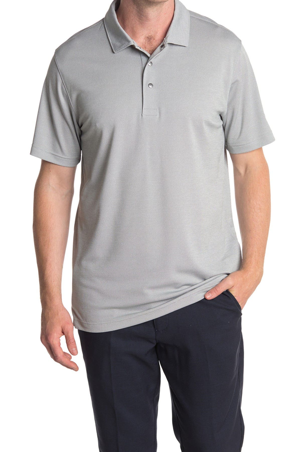 Image of PUMA Grey Grill to Green Golf Polo
