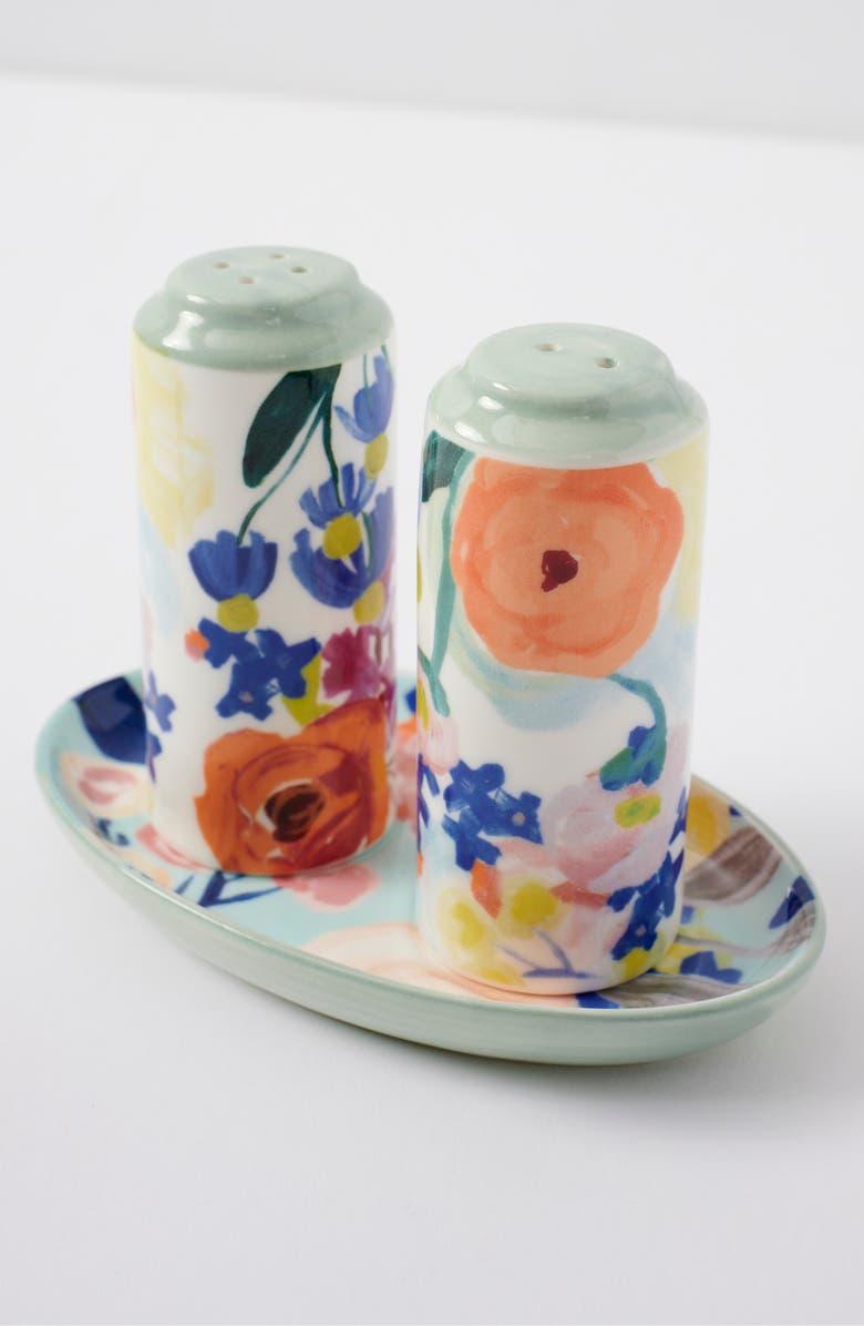ANTHROPOLOGIE HOME Remi Salt & Pepper Shaker Set, Main, color, BLUE COMBO