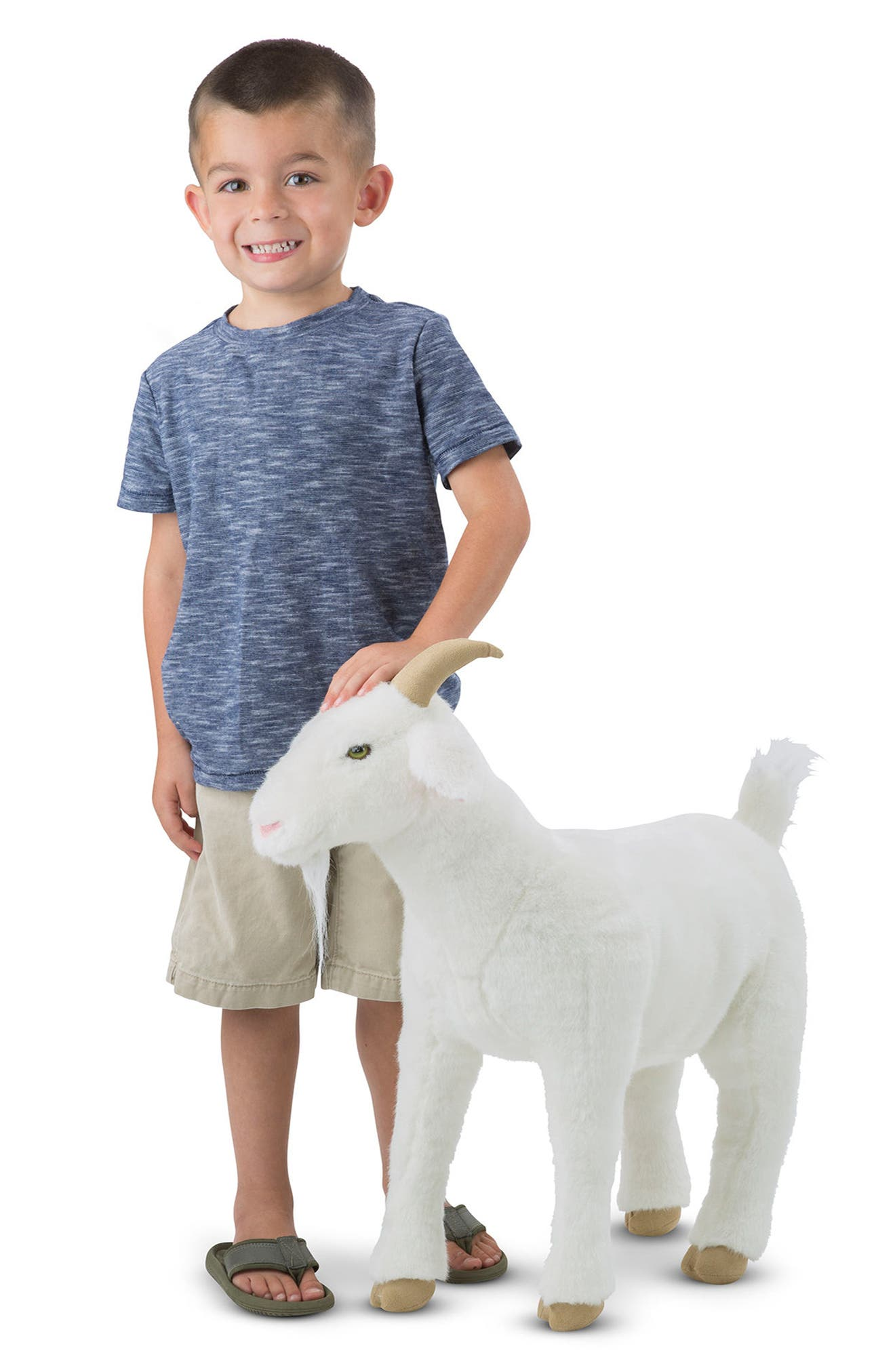 ,                             Giant Goat Plush Toy,                             Alternate thumbnail 4, color,                             WHITE MULTI