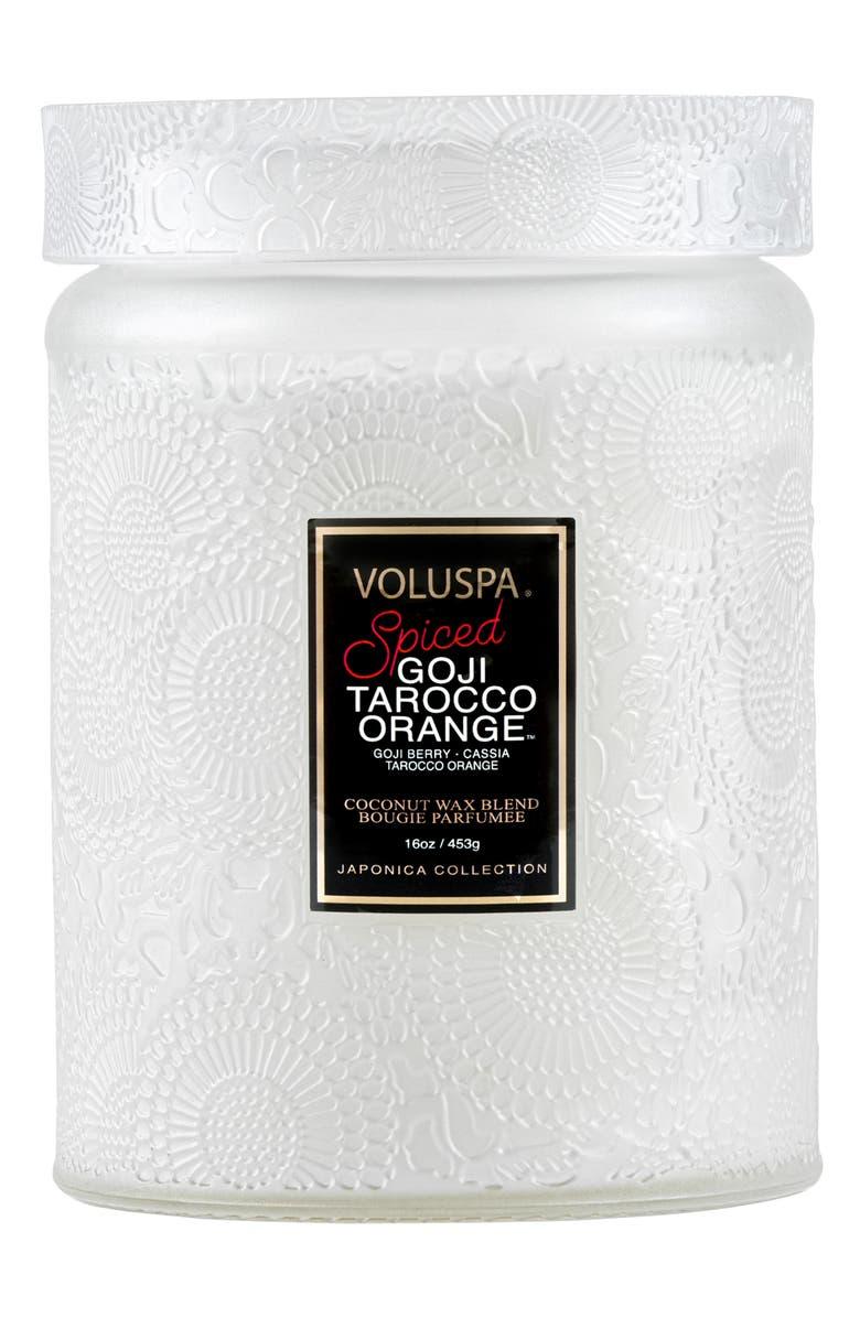 VOLUSPA Japonica Spiced Goji Tarocco Orange Large Jar Candle, Main, color, NO COLOR