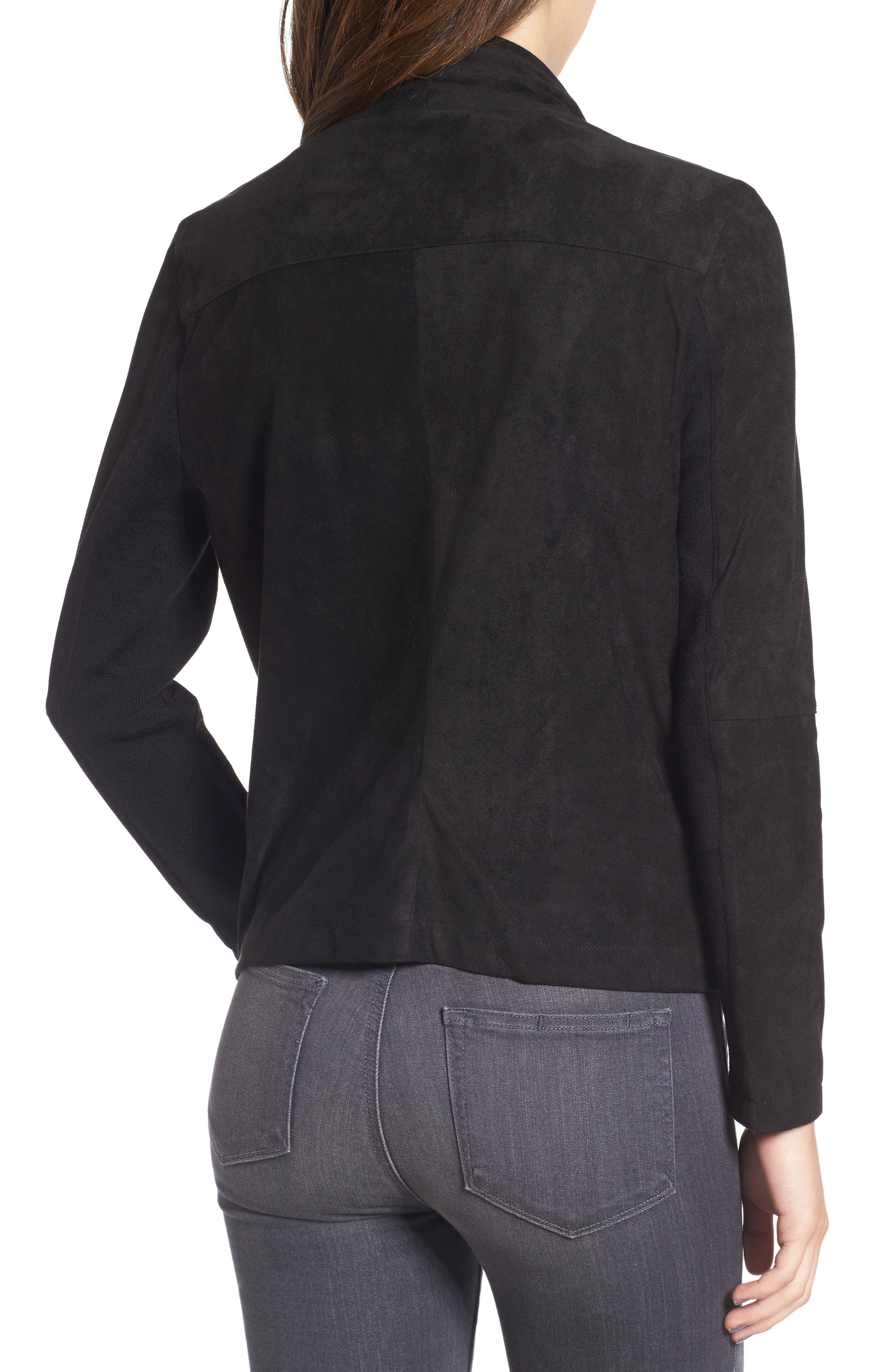,                             Nicholson Faux Suede Drape Front Jacket,                             Alternate thumbnail 71, color,                             002