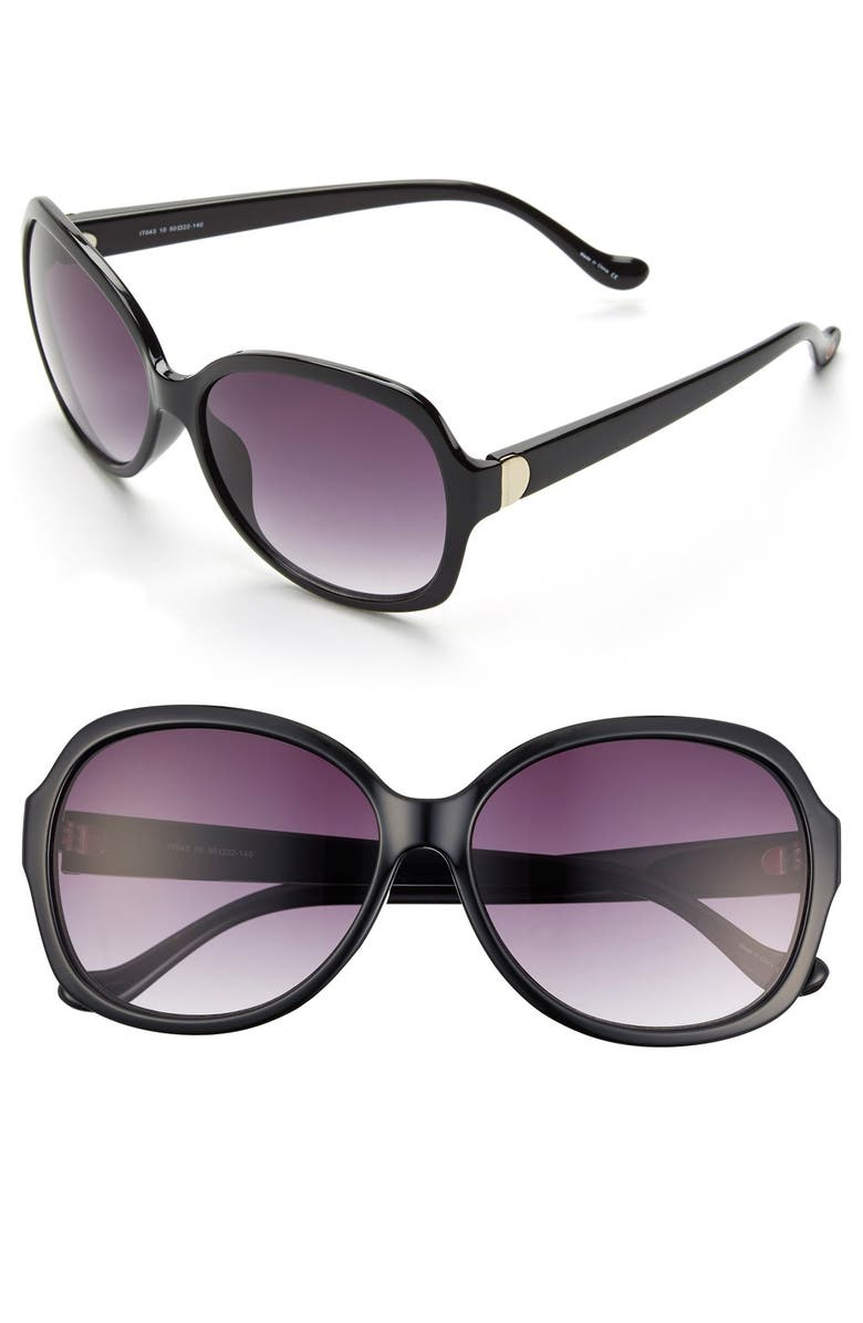IVANKA TRUMP 59mm Sunglasses, Main, color, 001