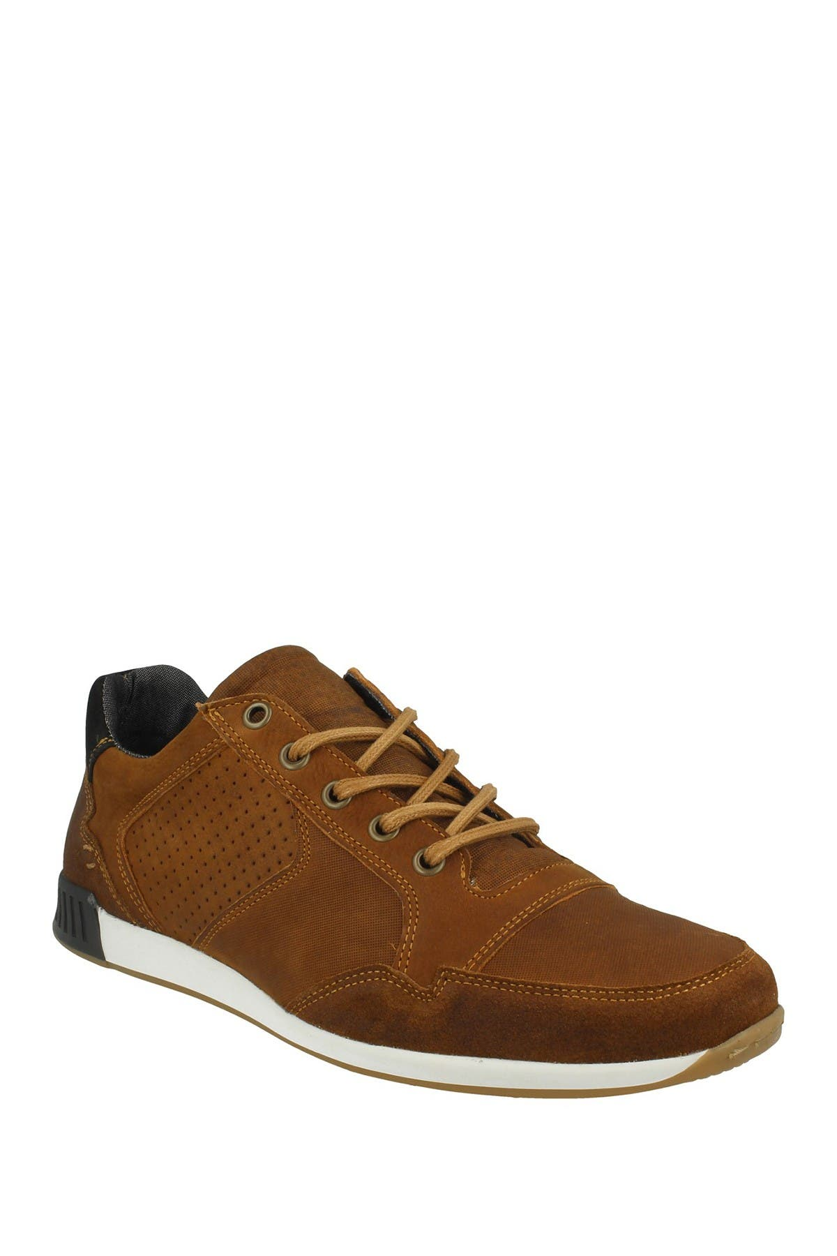 Image of Bullboxer Perforated Leather Sporty Sneaker