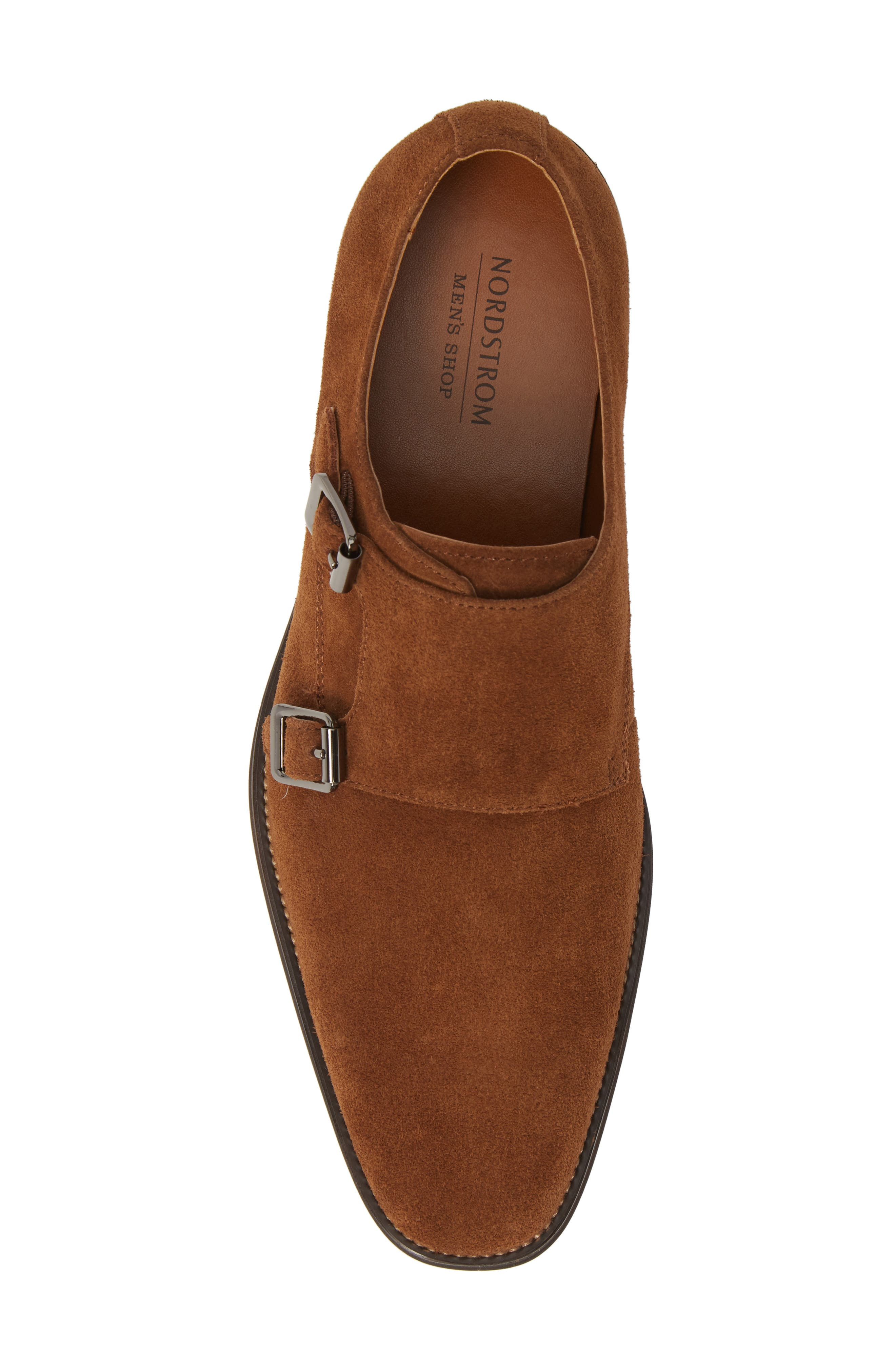 ,                             Roger Monk Strap Derby,                             Alternate thumbnail 5, color,                             TAN SUEDE