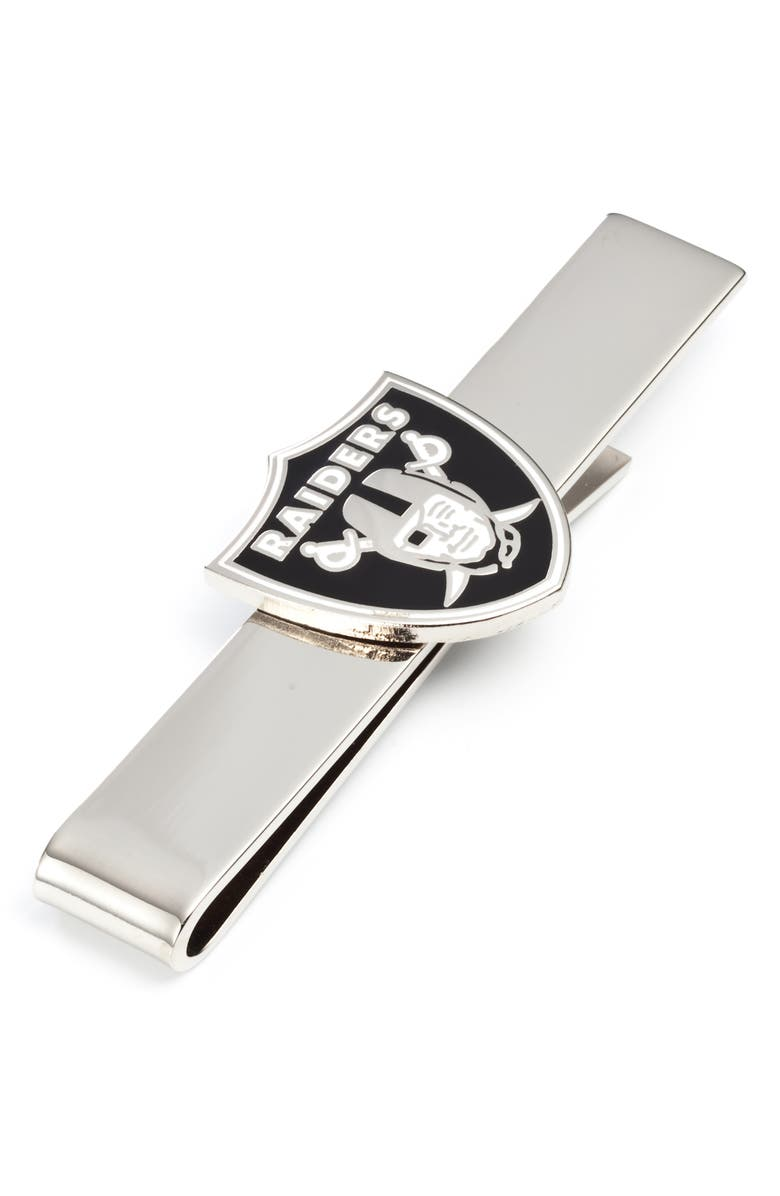 CUFFLINKS, INC. Oakland Raiders Tie Bar, Main, color, BLACK