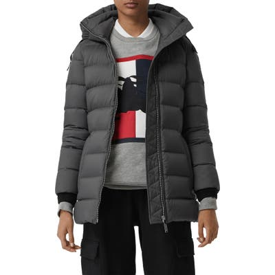 Burberry Limehouse Quilted Down Puffer Coat, Grey