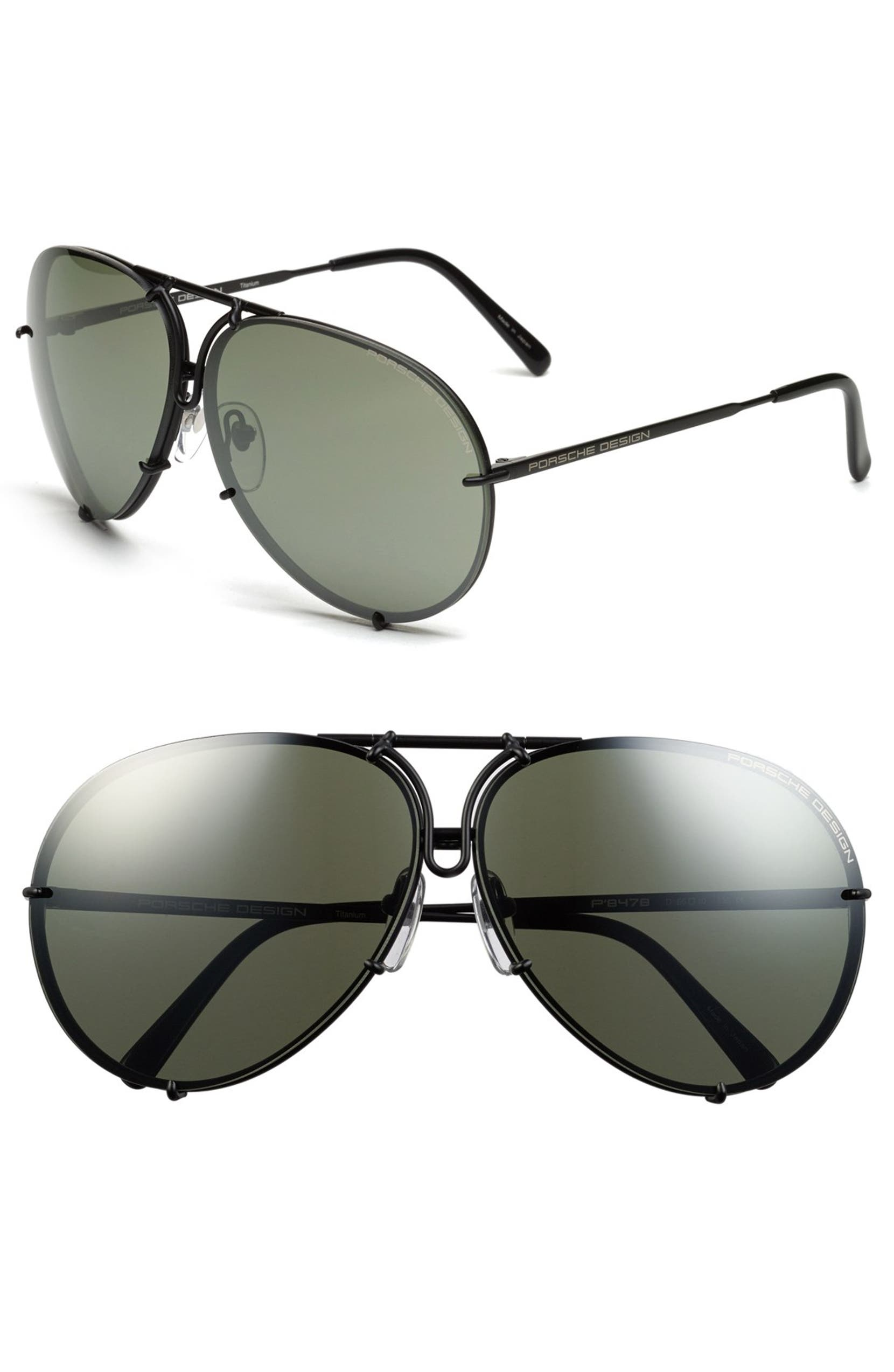 d9b915578172 Porsche Design 'P8478' 66mm Aviator Sunglasses | Nordstrom