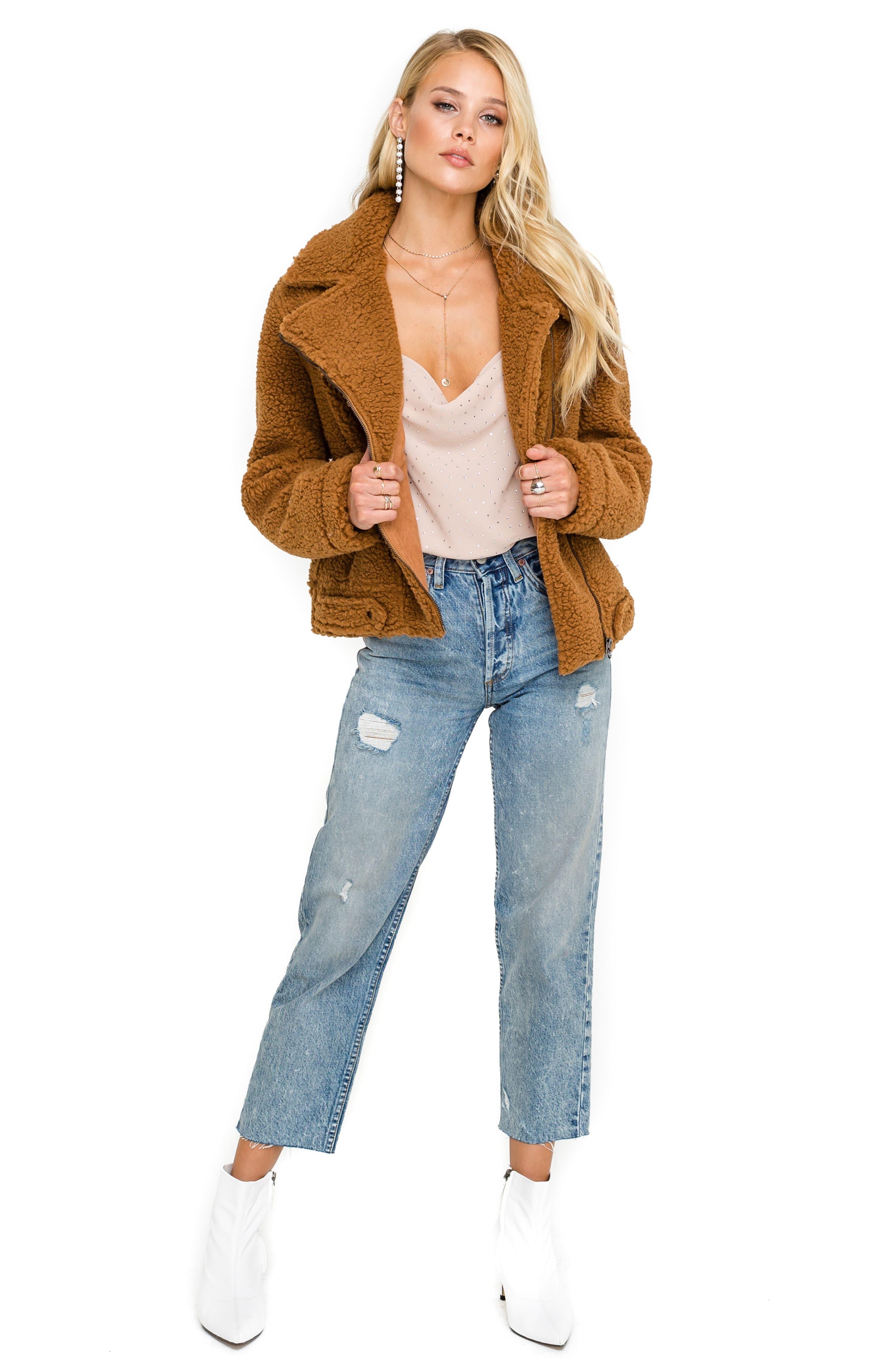 ,                             Brooklyn High Pile Fleece Jacket,                             Alternate thumbnail 4, color,                             205